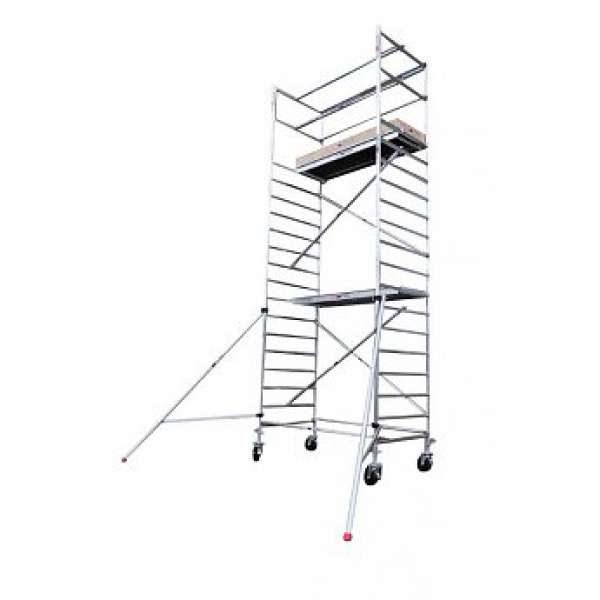 Basic line rolsteiger - 6.2 Meter Werkhoogte Met Extra Vloer