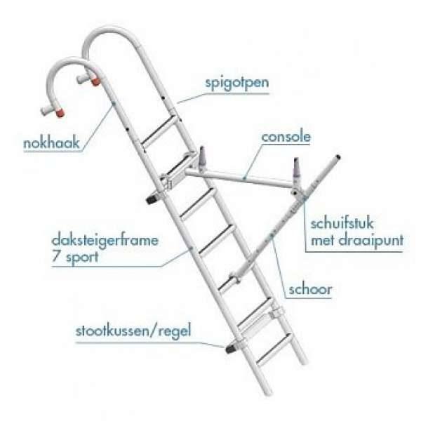 Dak- schoorsteensteiger compleet